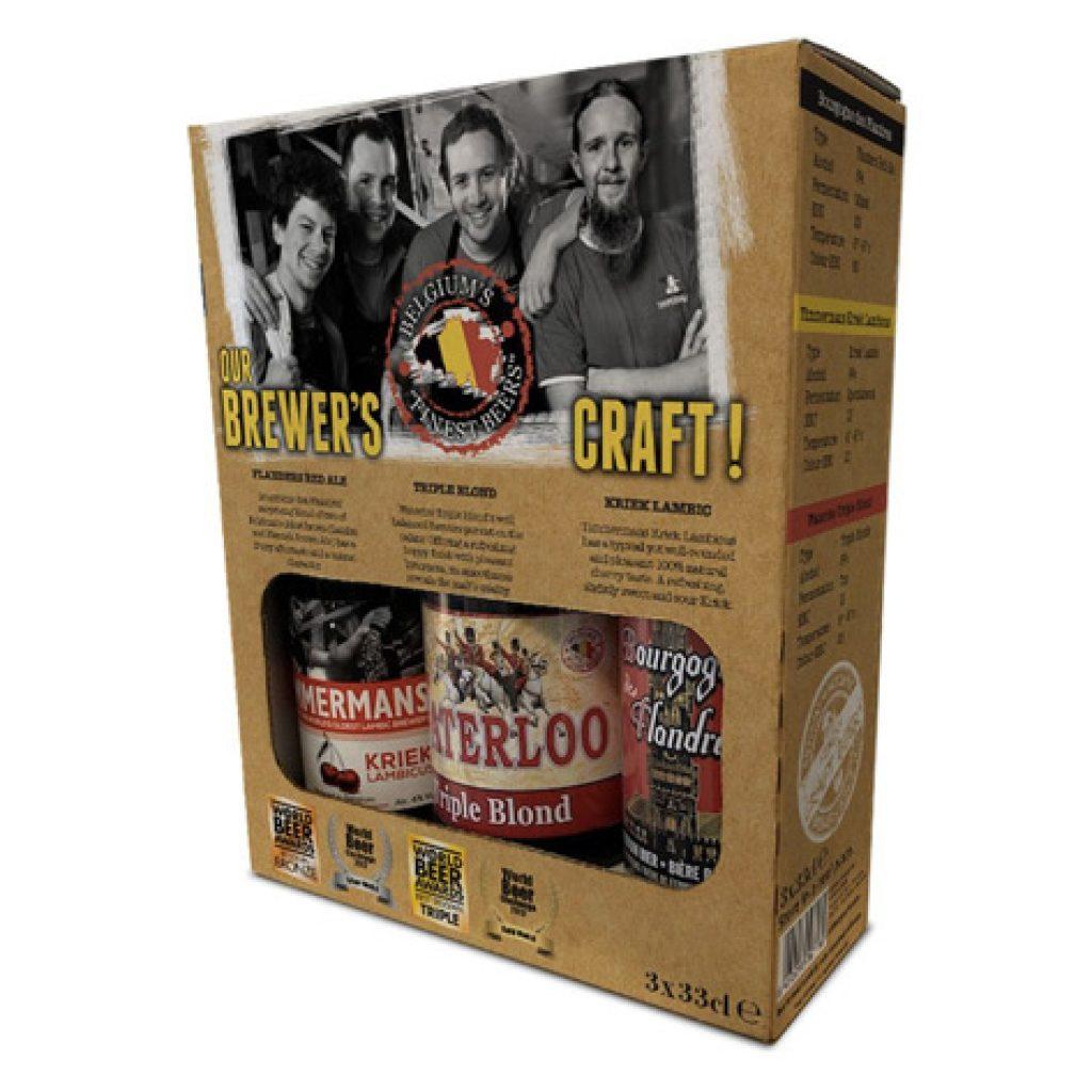 Pack de tres cervezas belgas