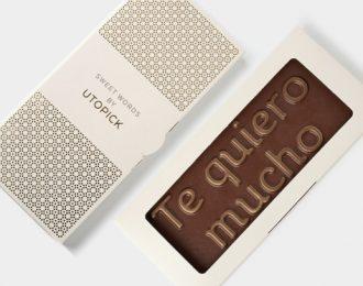 Tableta de chocolate «Te quiero mucho»